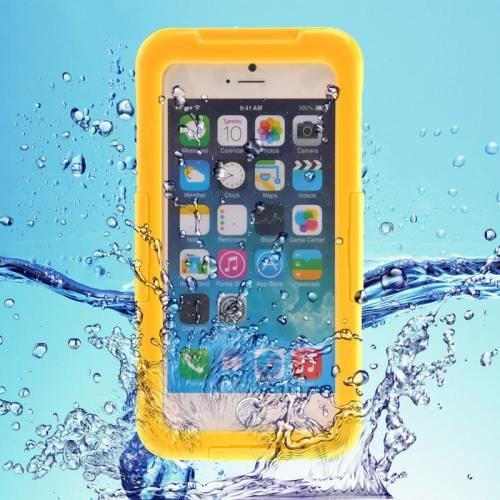 iPhone 6 Plus Yellow IP68 Waterproof Protective Case with Lanyard