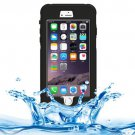 iPhone 6 Plus Black Waterproof Protective Case with Button, Fingerprint Unlock & Touch Screen