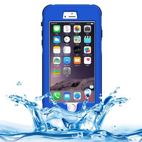 iPhone 6 Plus Dark Blue Waterproof Protective Case with Button, Fingerprint Unlock & Touch Screen