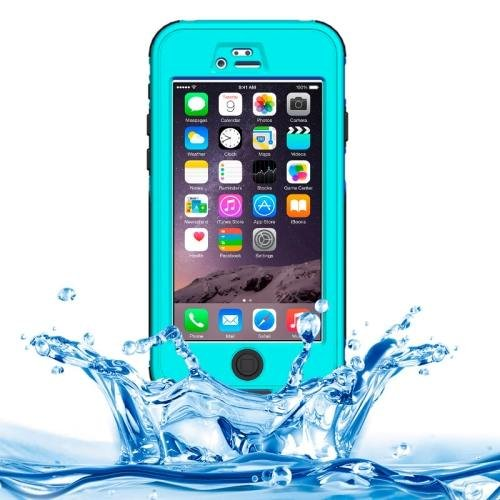iPhone 6 Plus Blue ABS Material Waterproof Protective Case with Button & Touch Screen
