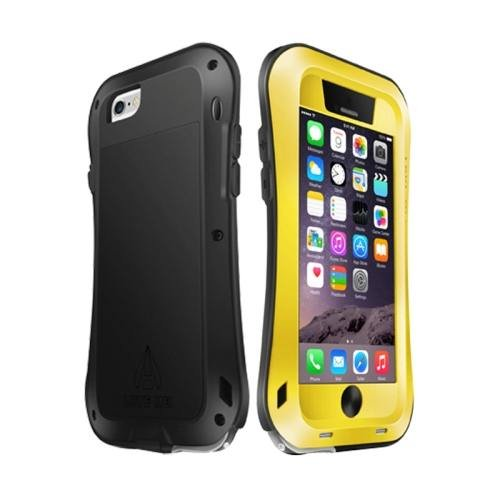 iPhone 6 Plus Yellow LOVE MEI Metal Small Waist Waterproof Dustproof Shockproof Powerful Case