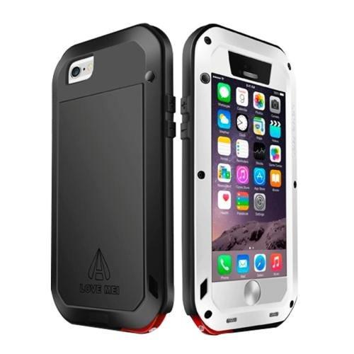 iPhone 6 Plus White LOVE MEI Metal Small Waist Waterproof Dustproof Shockproof Powerful Case
