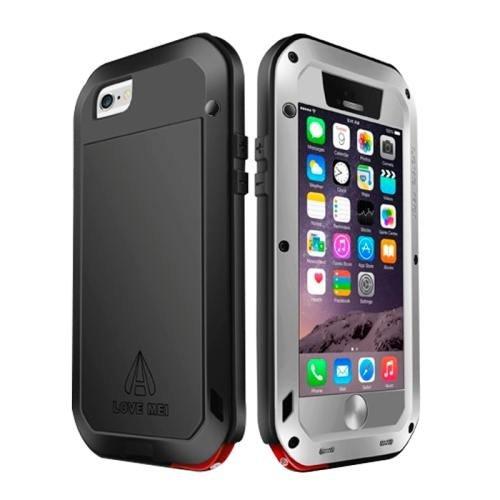 iPhone 6 Plus Grey LOVE MEI Metal Small Waist Waterproof Dustproof Shockproof Powerful Case