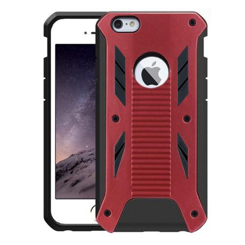 iPhone 6 Plus Red Caseology Shockproof Rugged Armor Plastic Back Cover & TPU Case