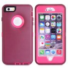 iPhone 6 Plus Dark Red 3 in 1 Hybrid Silicon & Plastic Protective Case