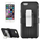 For iPhone 6 Plus Black Plastic and TPU Combination Case with Rotatable Clip and Holder