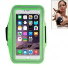 For iPhone 6 Plus Green Sport Armband Case with Earphone Hole and Key Pocket