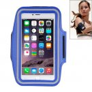 For iPhone 6 Plus Dark Blue Sport Armband Case with Earphone Hole and Key Pocket