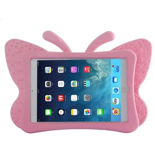 For iPad Mini 1/2/3 Pink Butterfly EVA Protective Case with Holder