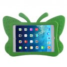 For iPad Mini 1/2/3 Green Butterfly EVA Protective Case with Holder