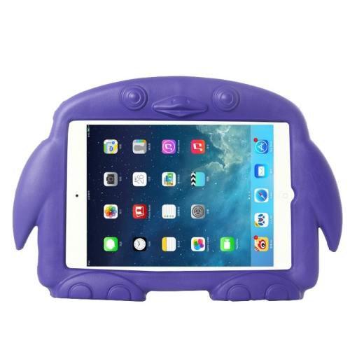 For iPad Mini 1/2/3 Purple Penguin EVA Protective Case