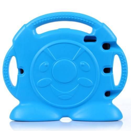 For iPad Mini 1/2/3 Blue Anpanman Pattern EVA Bumper Portable Protective Case with Handle & Holder