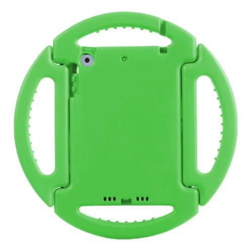 For iPad Mini 1/2/3 Green EVA Disk Style Bumper Portable Protective Case with Handle & Holder