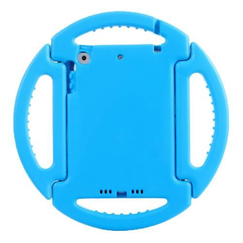 For iPad Mini 1/2/3 Blue EVA Disk Style Bumper Portable Protective Case with Handle & Holder