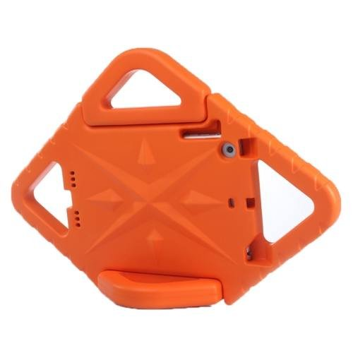 For iPad Mini 1/2/3 Orange EVA Rhombus Bumper Portable Protective Case with Handle & Holder