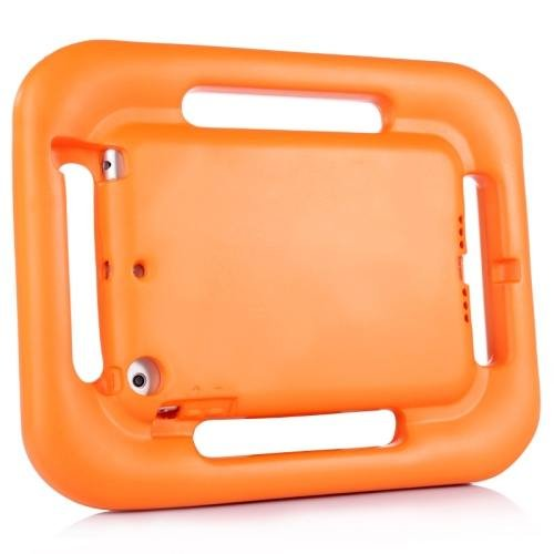 For iPad Mini 1/2/3 Orange EVA Steering Wheel Style Handle Protective Case