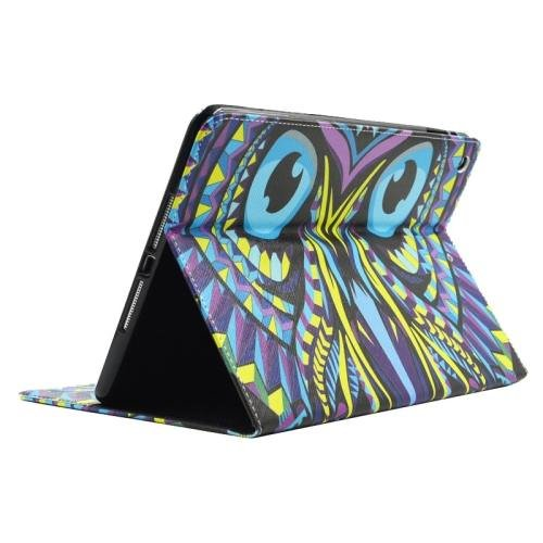 For iPad Air/iPad 5 Owl Smart Cover Leather case with Holder, Card Slots & Wallet