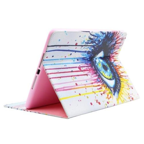 For iPad Air/iPad 5 Eye Smart Cover Leather case with Holder, Card Slots & Wallet