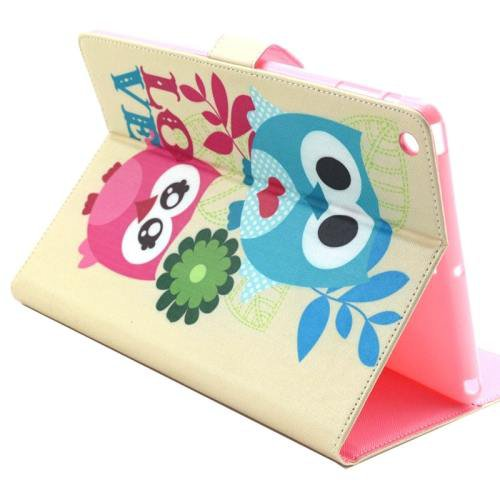 For iPad Air/iPad 5 Owls in Love Smart Cover Leather case with Holder, Card Slots & Wallet