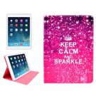 For iPad Air KEEP CALM Pattern Smart Cover Leather case with Holder