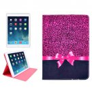 For iPad Air Bowknot Pattern Smart Cover Leather case with Holder