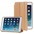 For iPad Air Brown 3-folding Naturally Treated Leather Smart Cover Case with Holder