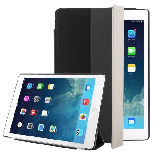 For iPad Air Black 3-folding Smart Cover Companion Case with Sleep & Wake-up Function