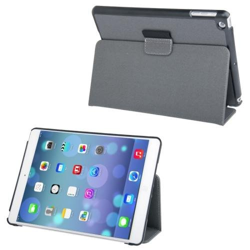 For iPad Air Grey Denim Texture Leather Case with Holder & Sleep / Wake-up Function