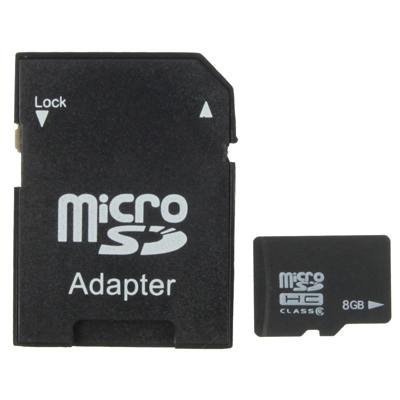 8GB High Speed Class 4 Micro SD(TF) Memory Card from Taiwan, Write: 6.5mb/s, Read: 16mb/s