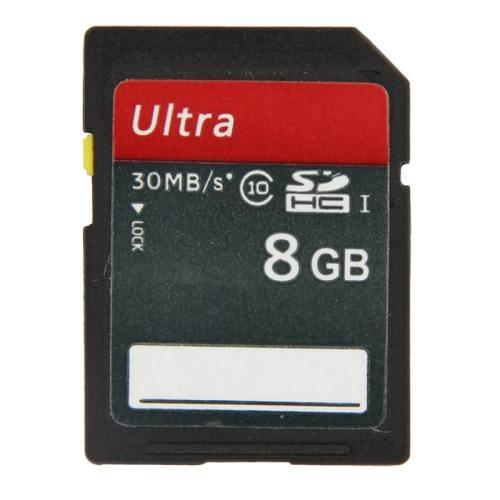 8GB Ultra High Speed Class 10 SDHC Camera Memory Card (100% Real Capacity)