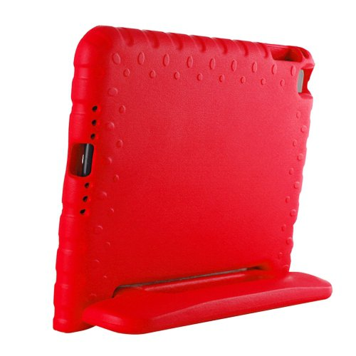 For iPad mini 4 Red EVA Bumper Protective Case with Handle & Holder