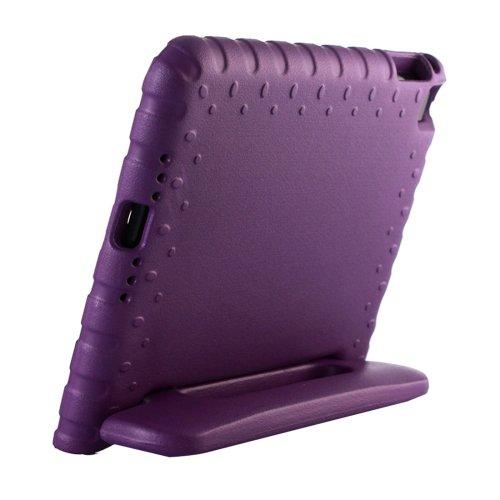 For iPad mini 4 Purple EVA Bumper Protective Case with Handle & Holder