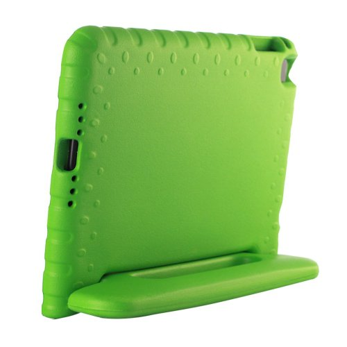For iPad mini 4 Green EVA Bumper Protective Case with Handle & Holder