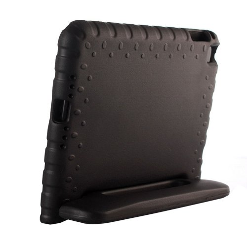 For iPad mini 4 Black EVA Bumper Protective Case with Handle & Holder