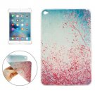 For iPad mini 4 Red Flower Tree Pattern TPU Protective Case