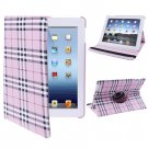 For iPad 4/3/2 Pink 360 Degree Rotatable Scotland Gyrosigma Case with Holder