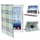 For iPad 4/3/2 Green 360 Degree Rotatable Scotland Gyrosigma Case with Holder