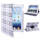 For iPad 4/3/2 Silver 360 Degree Rotatable Scotland Gyrosigma Case with Holder