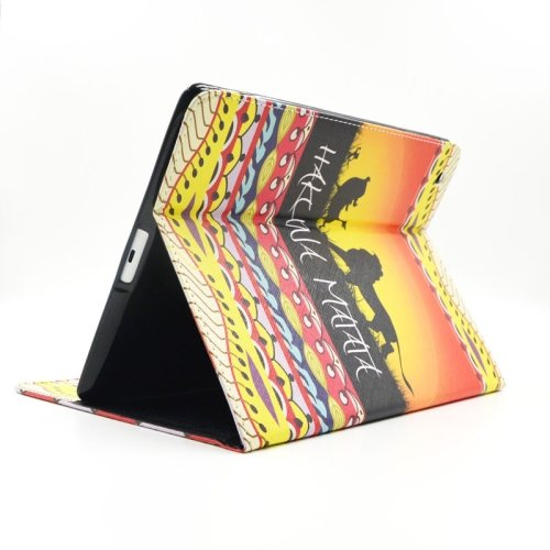 For iPad 4/3/2 MATATA Pattern Leather Case with Holder & Card Slots & Wallet