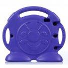 For iPad 4/3/2 Purple Anpanman Pattern EVA Bumper Portable Protective Case with Handle & Holder