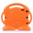 For iPad 4/3/2 Orange Anpanman Pattern EVA Bumper Portable Protective Case with Handle & Holder