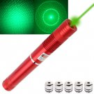 4mw 532nm Green Beam Laser Pointer Kit with 5 x Gypsophila Lens/Battery Charger - Red
