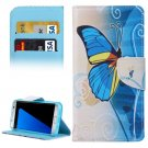 For Galaxy S7 Edge Butterfly Flip Leather Case with Holder, Card Slots & Wallet