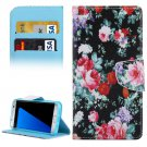 For Galaxy S7 Edge Flower Flip Leather Case with Holder, Card Slots & Wallet