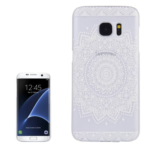 For Galaxy S7 Edge Dreamcatcher Pattern Transparent Frame PC Protective Case