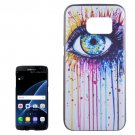For Galaxy S7 Edge Eye Pattern PC Protective Case