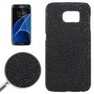 For Galaxy S7 Edge Black Fashionable Flash Powder Back Cover Case