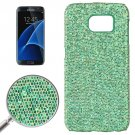 For Galaxy S7 Edge Green Fashionable Flash Powder Back Cover Case