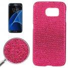 For Galaxy S7 Edge Magenta Fashionable Flash Powder Back Cover Case