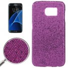 For Galaxy S7 Edge Purple Fashionable Flash Powder Back Cover Case